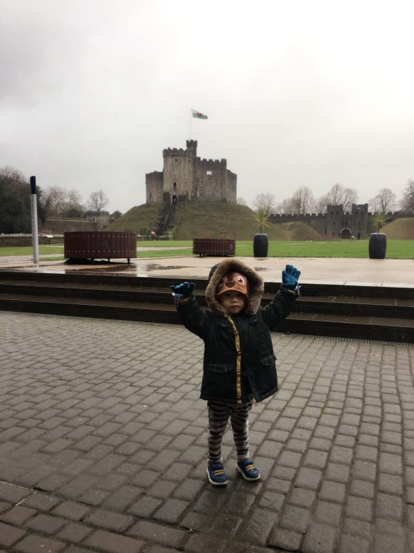 Cardiff Castle with toddlers