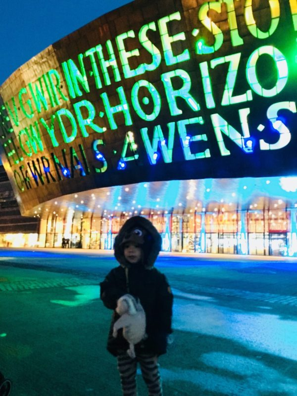 Enjoying the sights and sounds of Wales Millenium Centre, Cardiff