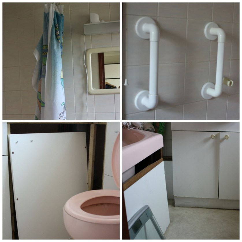 PicMonkey ensuite4Collage, Bathroom, Ensuite, Toilet, 1980s