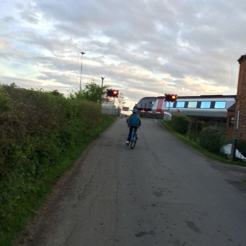Bike ride, Cycling, Daughter, Railway, Level crossing, 365