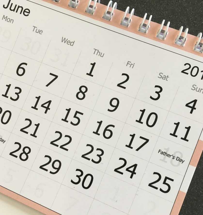 Calendar, June, This week, last week