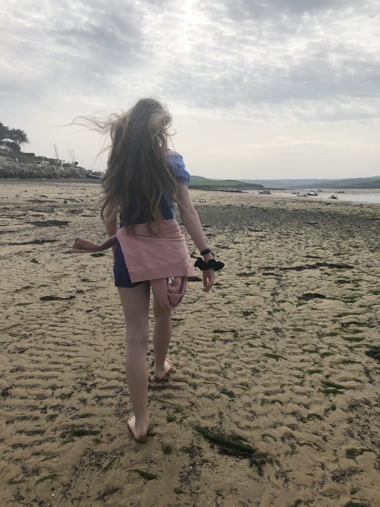 Beach, Rock, Cornwall, Padstow, Daughter, Sunday Snap, Silent Sunday, My Sunday Photo