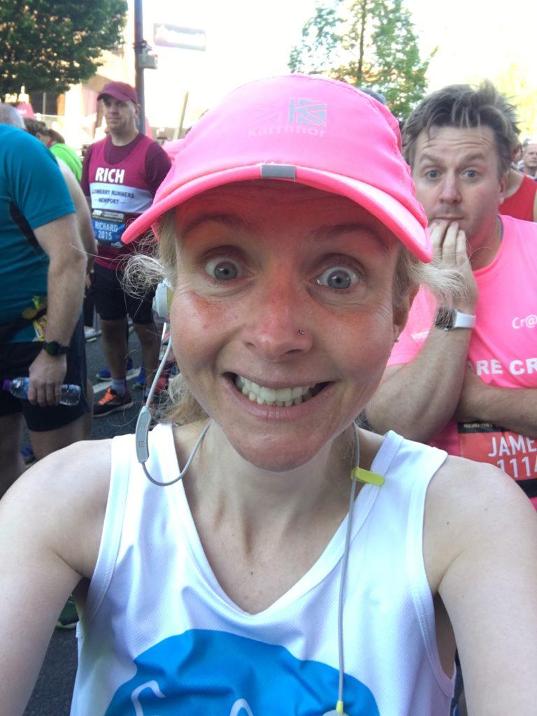 Newport marathon, Marathon, Selfie, start line