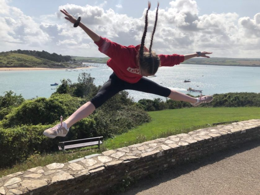 Daughter, Jumping, Padstow, Holiday, 365