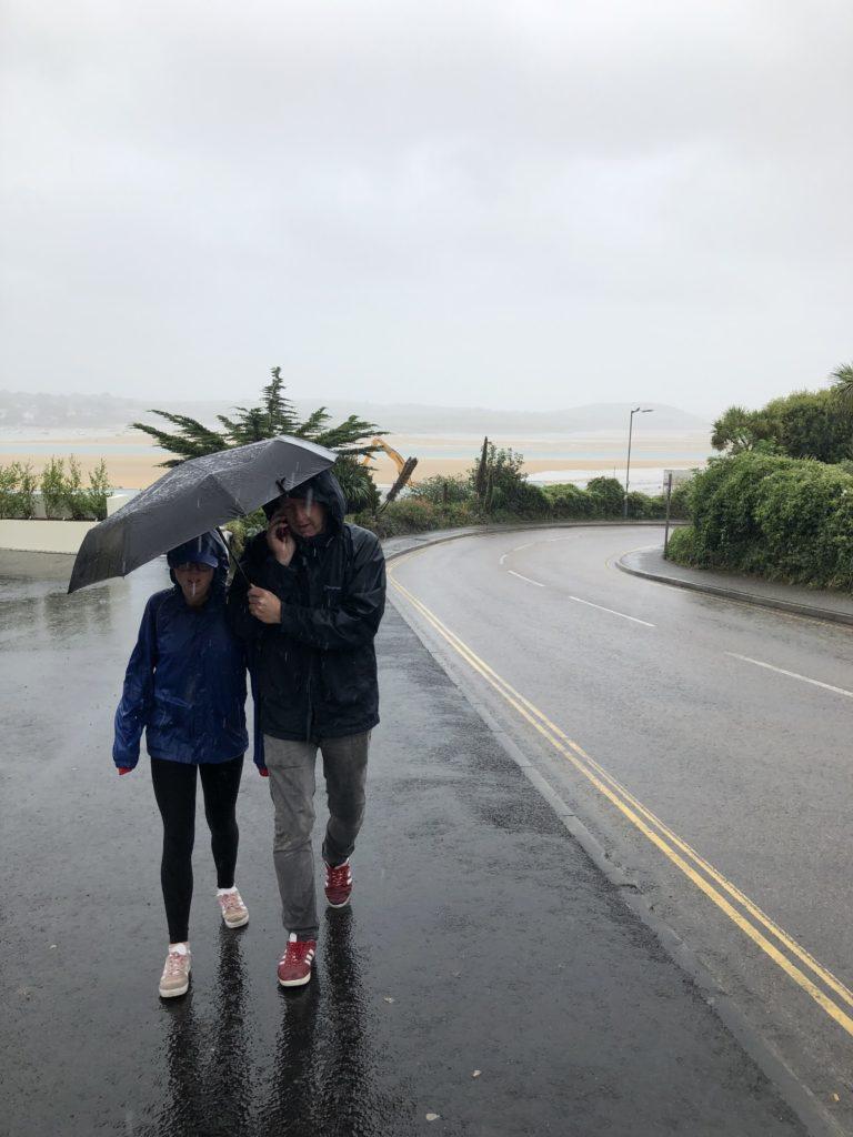 Rain, Padstow, Daughter, Husband, 365