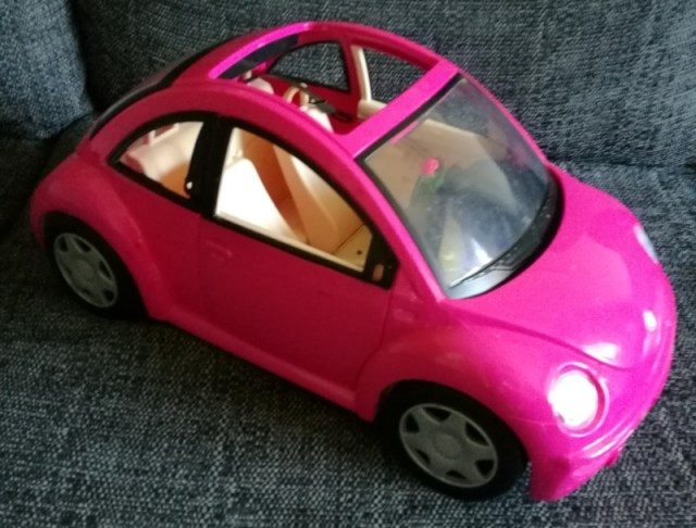 charity shop haul - barbie car