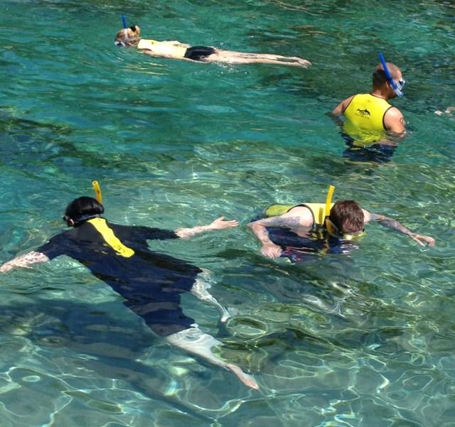Snorkelling at Discovery Cove Orlando. Copyright Gretta Schifano