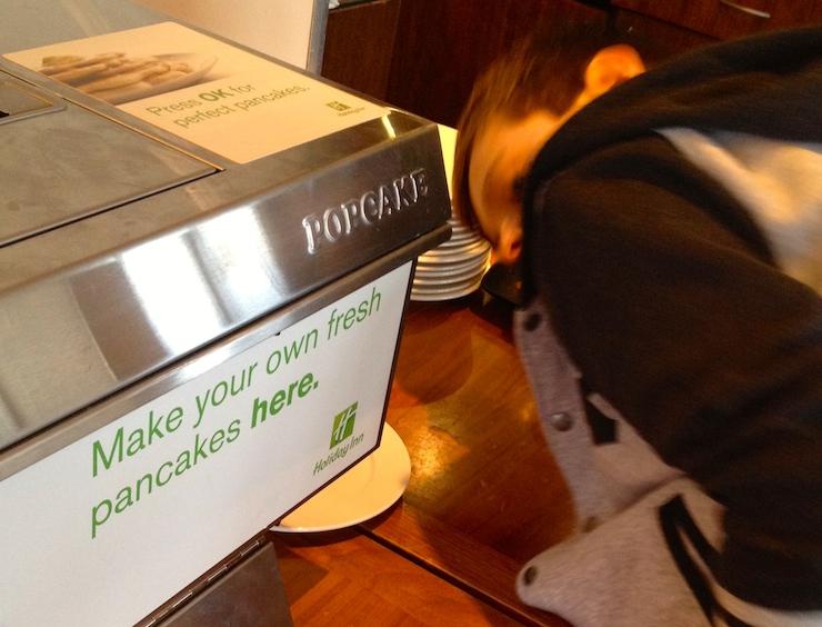 Holiday Inn pancake machine. Copyright Gretta Schifano