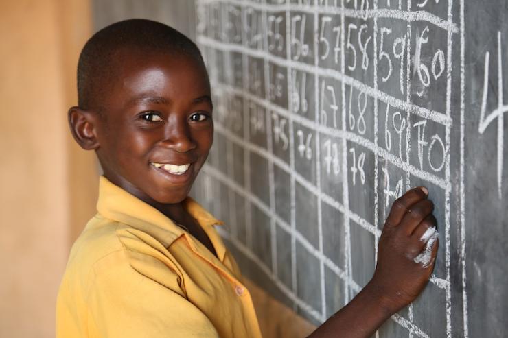 Joseph, age 11, at school. Photo courtesy of Comic Relief.