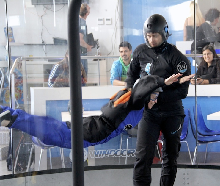 Indoor skydiving on the Costa Brava. Copyright Gretta Schifano