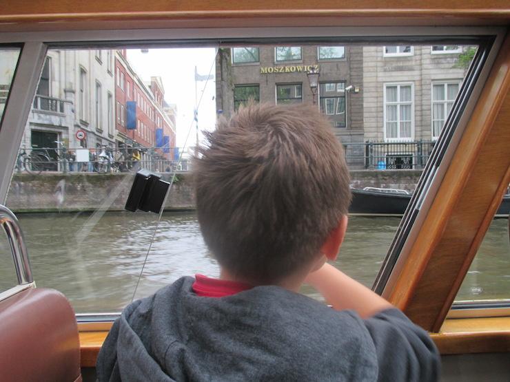 Canal boat tour, Amsterdam. Copyright Gretta Schifano