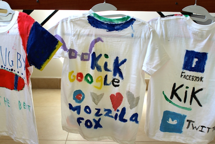 Decorated T-shirts at Scott Dunn kids club, Verdura. Copyright Gretta Schifano