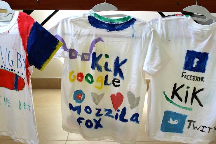 Decorated T-shirts at Scott Dunn kids club, Verdura. Copyright Gretta Schifano