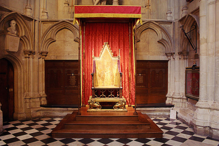 The Coronation Chair. Image courtesy of Dan Pianesi, Westminster Abbey