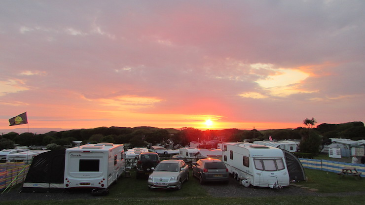 Caravans at sunset. Image courtesy of Marianne Weekes