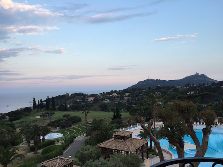 View from Cap Esterel Resort. Image courtesy of Lynsey Devon