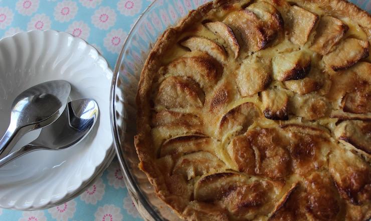 Expedia French World on a Plate Challenge: Tarte aux Pommes à la crème. Copyright Gretta Schifano