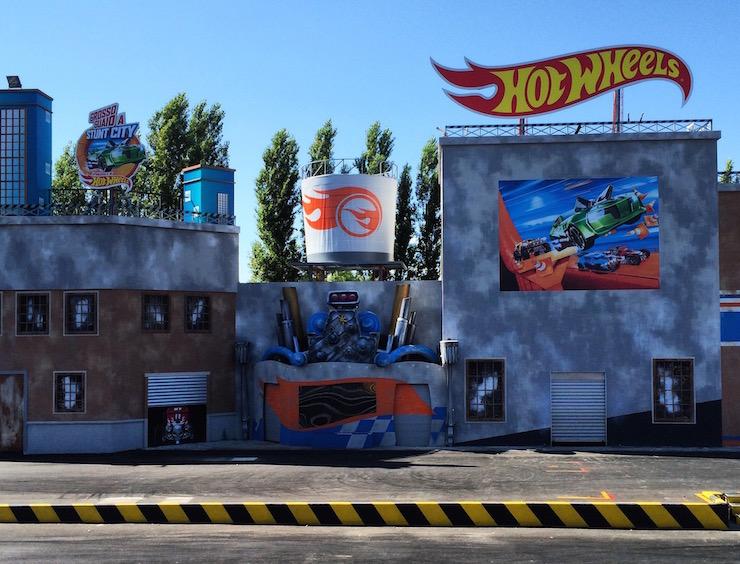 Set for Hot Wheels stunt show, Mirabilandia. Copyright Gretta Schifano