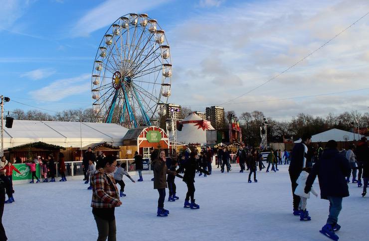Ice skating at Winterville. Copyright Gretta Schifano