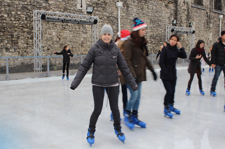 Ice skating at the Tower of London. Copyright Gretta Schifano
