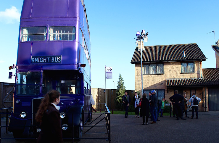 Knight Bus & Number 4, Privet Drive. Copyright Gretta Schifano