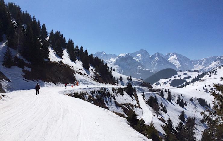 Blue slope at Auris-en-Oisans, France. Copyright Gretta Schifano – Version 2