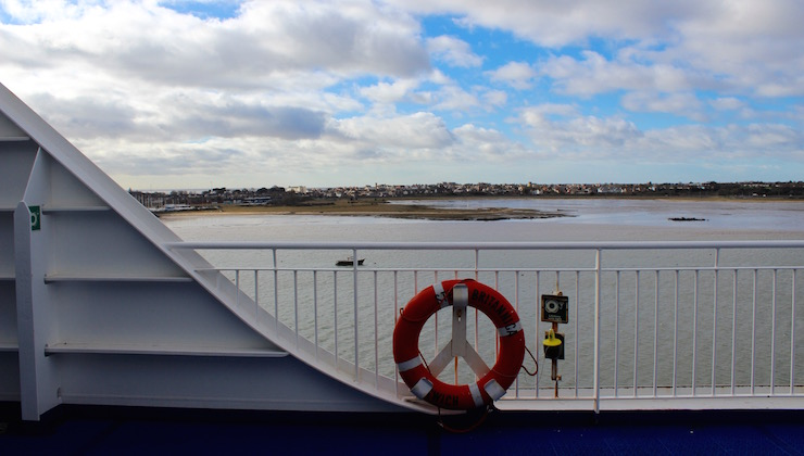 Stena Line ferry viewing deck. Copyright Gretta Schifano