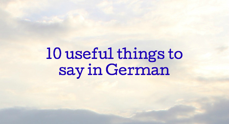 Featured image 10 useful things German