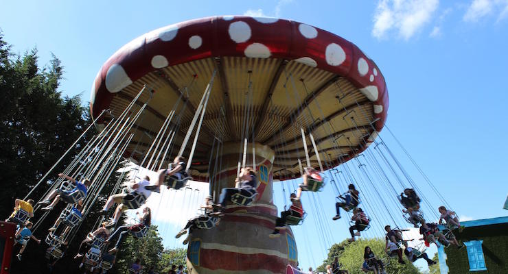 Twirling Toadstool, Alton Towers. Copyright Gretta Schifano