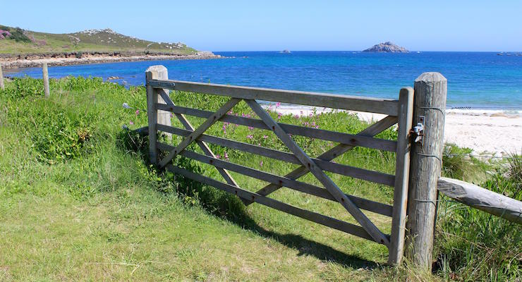 Walking in Tresco, Isles of Scilly. Copyright Gretta Schifano