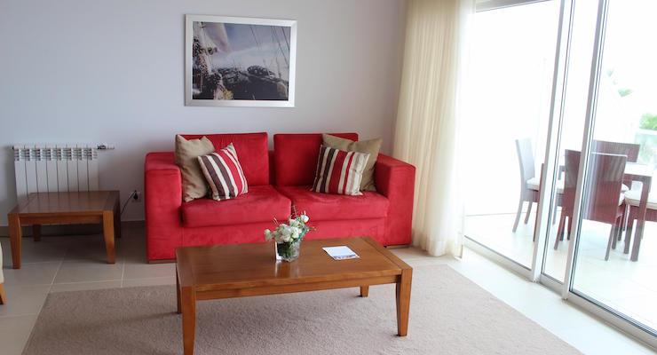 Lounge, Praia D'el Rey apartment, Portugal. Copyright Gretta Schifano