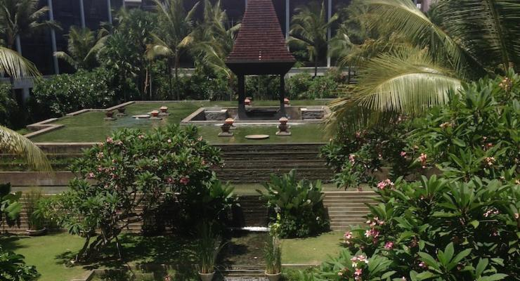 Grounds at the Fairmont Hotel, Bali. Copyright Sharmeen Ziauddin