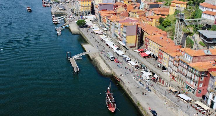 View from Dom Luis Bridge, Porto. Copyright Gretta Schifano