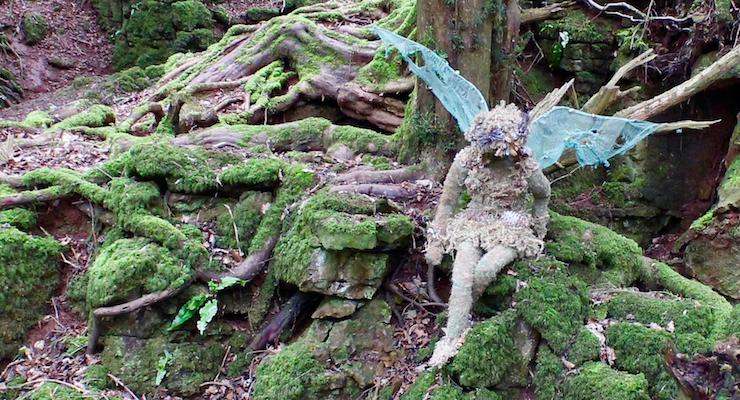Fairy sculpture, Puzzlewood, Forest of Dean. Copyright Gretta Schifano