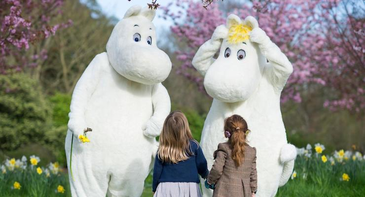 Moomins at Kew Gardens, London. Copyright Jeff Eden RBG Kew