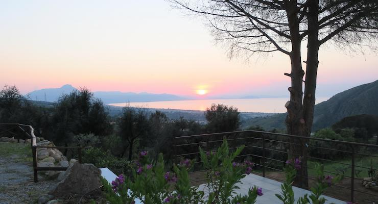 Sunset from Villa Vittoria, Sicily. Copyright Lorenza Bacino