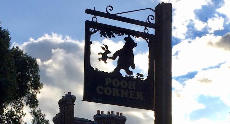 Pooh Corner sign, Hartfield. Copyright Gretta Schifano