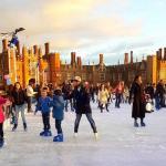 Ice skating at Hampton Court Palace, London
