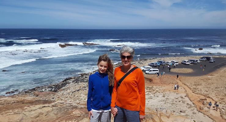 Lorenza Bacino and her daughter, Cape of Good Hope, South Africa. Copyright Francis Rolt