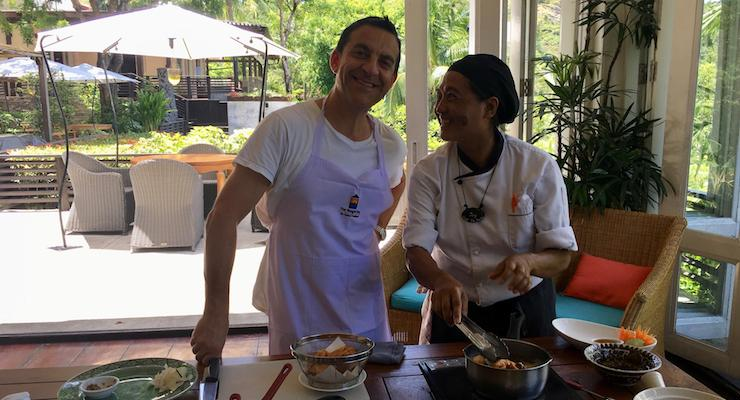 Chef Joy & Sal Schifano, Thai cooking class, The Tongsai Bay. Copyright Gretta Schifano