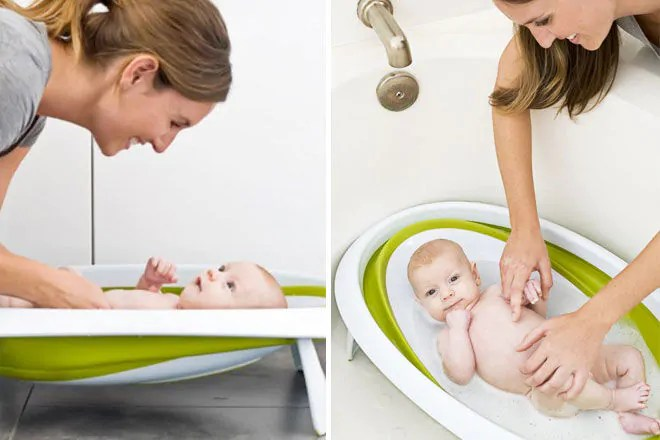 Boon Baby Bath Collapsible Bathtub For Babies And Newborns