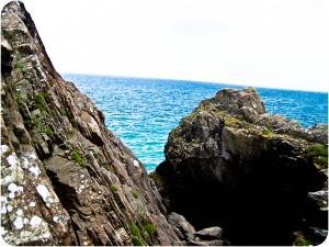 Sea, Sea View, Beach, Wales, Cliffs, pwhelli wales, Pwhelli, Blue Seas,