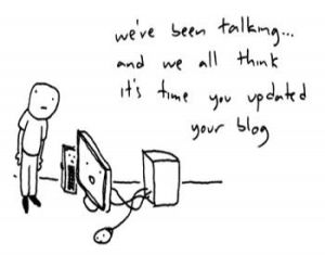 Blogging, blog cartoon, blog