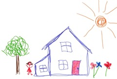Child-drawing-house