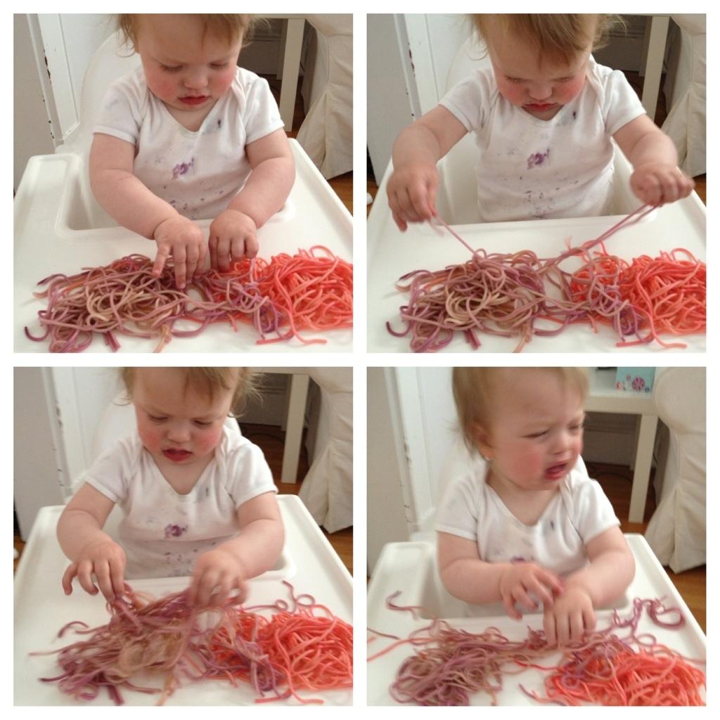 Colored Spaghetti in the Tuff Spot 5