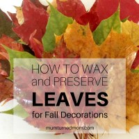 Autumn activities: waxed leaves