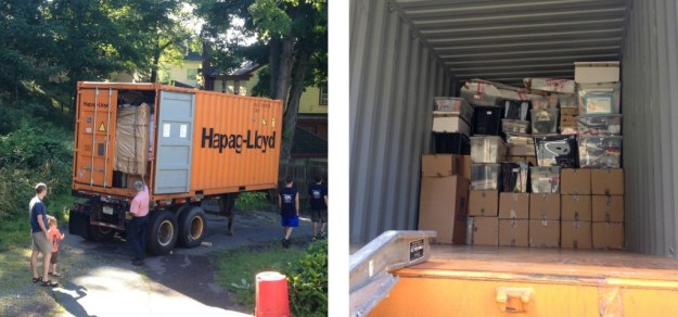 Unpacking commences
