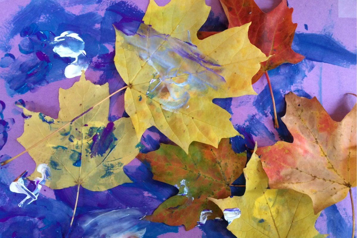 A Collage with Autumn Leaves 8