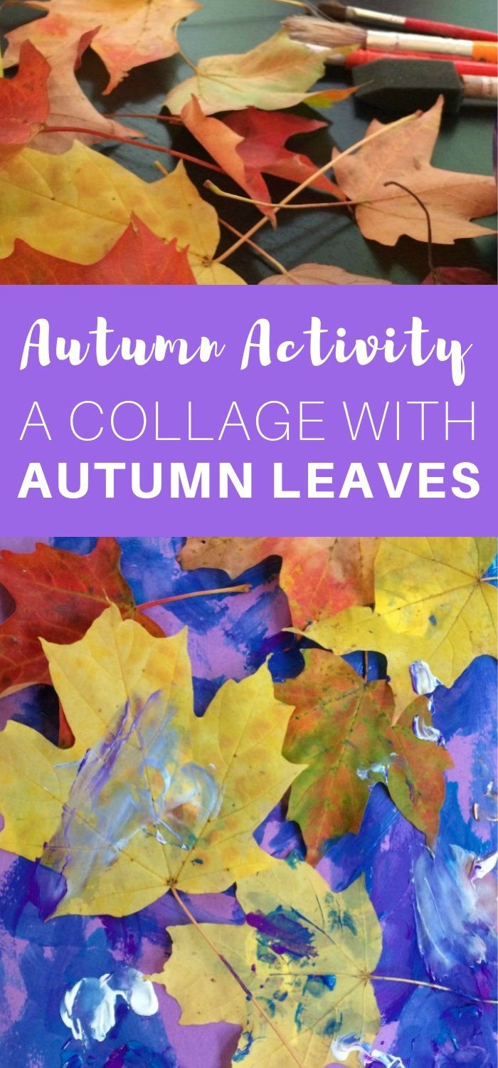 Autumn Activity - A Collage with Autumn Leaves - quick and easy autumn craft