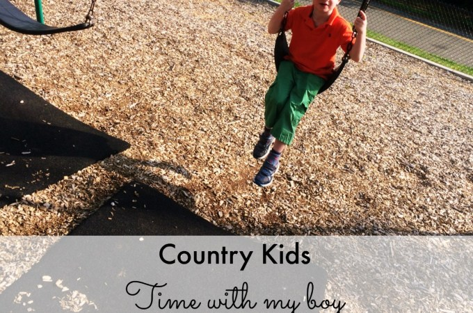 Country Kids: time with my boy